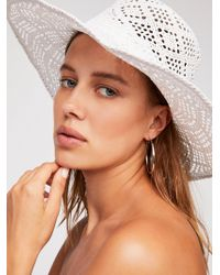 Free People - Shadow Play Sun Freckle Straw Hat - Lyst