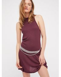 Free People - La Nite Mini Dress By Fp Beach - Lyst