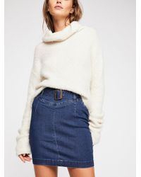 Free People - Livin' It Up Pencil Skirt - Lyst