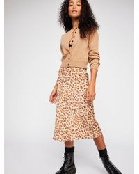 Free People - Normani Bias Printed Skirt - Lyst