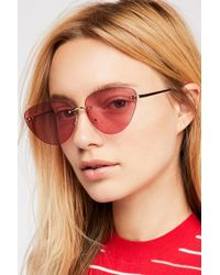 Free People - Capri Rimless Sunglasses - Lyst