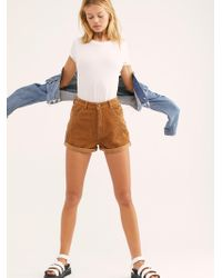 Free People - Dusters Cord Shorts - Lyst