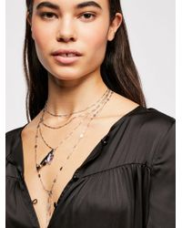 Free People - Tiny Tassel Necklace - Lyst