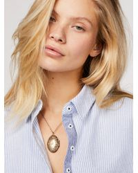 Free People - Locket Pendant Necklace - Lyst