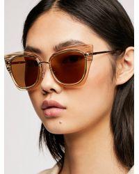Free People - Cabana Cateye Sunglasses - Lyst