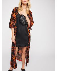 Free People - Roxi Deco Floral Print Kimono - Lyst
