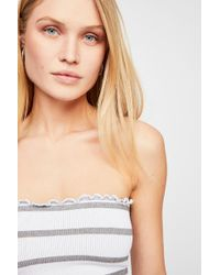 a0fba747bd Free People - Seamless Striped Tube By Intimately - Lyst