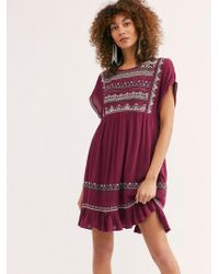 Free People - Sunrise Wanderer Mini Dress - Lyst
