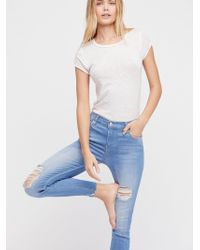 Free People - Shark Bite Skinny Jeans - Lyst