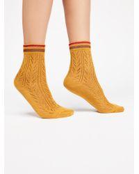 Free People - Sporty Pointelle Socks - Lyst