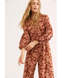 2b370517808 Free People - Xanthe Smock Jumpsuit By Saint Helena - Lyst