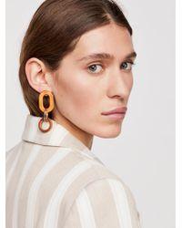 Free People - Wooden Loop Hoop Earrings - Lyst