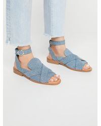 Free People - Denim Catalina Loafer - Lyst