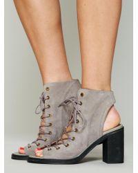 Free People - Minimal Lace Up Heel - Lyst