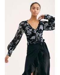 Free People - If You Had My Love Printed Blouse - Lyst