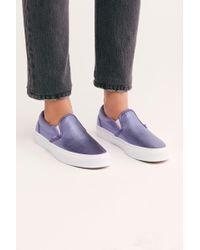 c105fcce84 Lyst - Vans Vans Muted Metallic Classic Slip-on Sneaker in Metallic