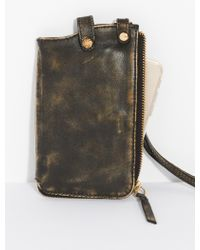 Free People - Leather Iphone Wallet - Lyst