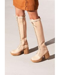850ad9072266 Lyst - Nasty Gal Jeffrey Campbell Sugarplum Bootie Nude in Natural