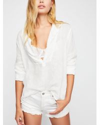 Free People - Kingsley Linen Pullover - Lyst