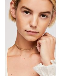Free People - Double Chain Necklace - Lyst