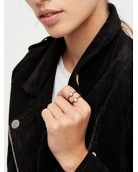 Free People - Raw Stone Stack Ring - Lyst
