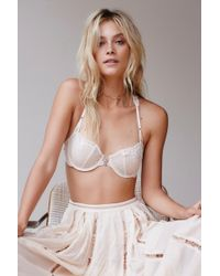 22cc2ae5fb Free People Fancy Back Underwire Bra By Intimately in Black - Lyst
