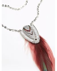Free People | Coin Chain Feather Pendant | Lyst