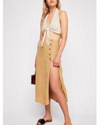 Free People - Roman Holiday Midi Skirt - Lyst
