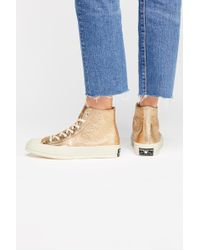 Free People - Metallic Platform Hi Top Chuck By Converse - Lyst