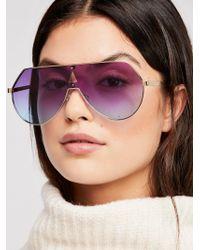 Free People - Feeling Slick Metal Shield Sunglasses - Lyst