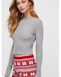 Free People - So Cropped Thermal - Lyst