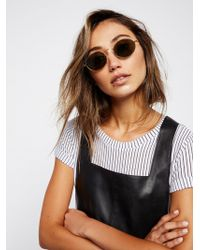 Free People | '90s Kid Oval Sunnies | Lyst