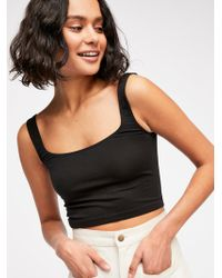 Free People - Scoop Neck Crop - Lyst