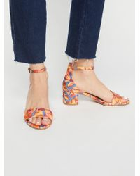 Free People - Printed Marigold Block Heel - Lyst