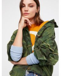 Free People - Slouchy Military Jacket - Lyst