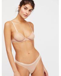 Free People - Vex Mesh Bikini Vex Mesh Triangle Bra - Lyst