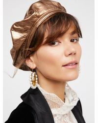 Free People - Lolita Leather Beret - Lyst