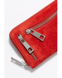 Free People - Ora Washed Leather Zip Wallet By Nunoo - Lyst