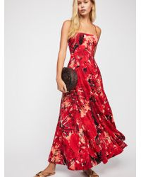 Free People - Nellie Printed Maxi Dress - Lyst