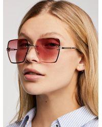 Free People - Fleur Rimless Sunglasses - Lyst