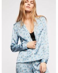 Free People - Spring Bloom Piped Pj Shirt - Lyst