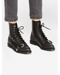 Free People - Dr. Martens Ulima Buckle Boot - Lyst