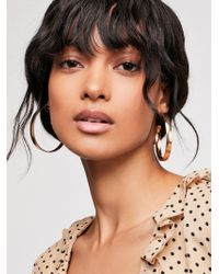 Free People - Flat Edge Hoop Earrings - Lyst