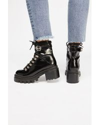 Free People - Shoes Boots Ankle Boots Check Lace-up Boot - Lyst