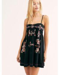 Free People - Kaleidoscope Cool Mini Dress - Lyst