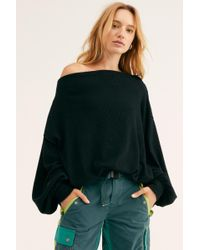 0021c697475a Free People We The Free Summer Nights Hacci in Gray - Lyst