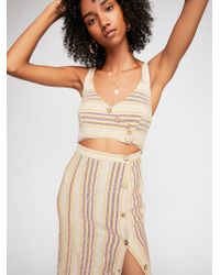Free People - Striped Ultraviolet Midi Dress By Endless Summer - Lyst