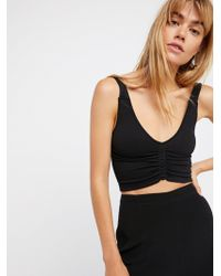 Free People | Seamless Corset Crop | Lyst