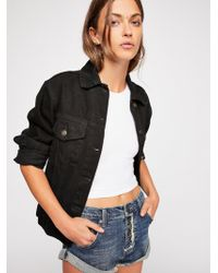 Free People - Bandit Denim Shorts - Lyst