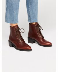 Free People - Zephyr Lace-up Boot By Jeffrey Campbell - Lyst
